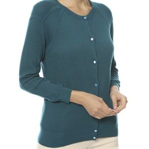 Marc By Marc Jacobs Textured Cardigan Crew Small